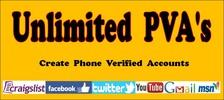 Thumbnail Unlimited PVA Phone Verified Accounts